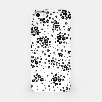 Thumbnail image of Minute details Black and white artistic wild ditsy flowers pattern iPhone Case, Live Heroes