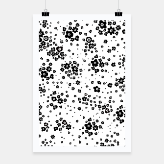 Thumbnail image of Minute details Black and white artistic wild ditsy flowers pattern Poster, Live Heroes