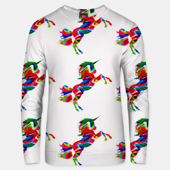 Thumbnail image of Watercolor unicorns-White Sudadera unisex, Live Heroes