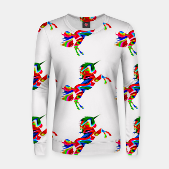 Thumbnail image of Watercolor unicorns-White Sudadera para mujeres, Live Heroes