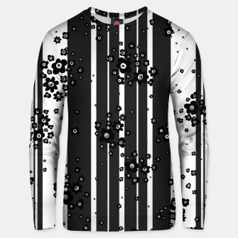Thumbnail image of  Artistic, Black, Black and white, Cute, Daisy, Ditsy, Hand drawn, Lines, Simple, Spring/summer, Stylised floral, pattern Unisex sweater, Live Heroes