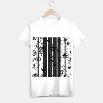 Thumbnail image of  Artistic, Black, Black and white, Cute, Daisy, Ditsy, Hand drawn, Lines, Simple, Spring/summer, Stylised floral, pattern T-shirt regular, Live Heroes