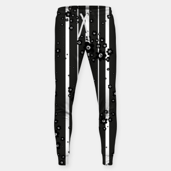 Thumbnail image of  Artistic, Black, Black and white, Cute, Daisy, Ditsy, Hand drawn, Lines, Simple, Spring/summer, Stylised floral, pattern Sweatpants, Live Heroes