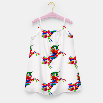 Thumbnail image of Watercolor unicorns-White Vestido para niñas, Live Heroes