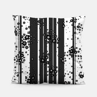 Thumbnail image of  Artistic, Black, Black and white, Cute, Daisy, Ditsy, Hand drawn, Lines, Simple, Spring/summer, Stylised floral, pattern Pillow, Live Heroes