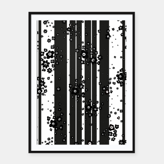 Thumbnail image of  Artistic, Black, Black and white, Cute, Daisy, Ditsy, Hand drawn, Lines, Simple, Spring/summer, Stylised floral, pattern Framed poster, Live Heroes