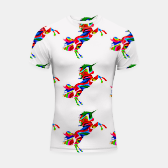 Thumbnail image of Watercolor unicorns-White Shortsleeve rashguard, Live Heroes