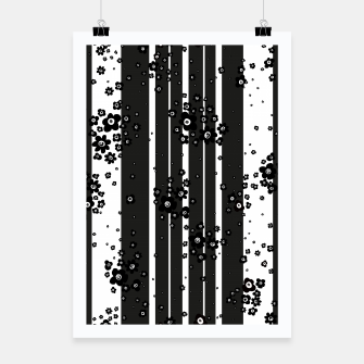 Thumbnail image of  Artistic, Black, Black and white, Cute, Daisy, Ditsy, Hand drawn, Lines, Simple, Spring/summer, Stylised floral, pattern Poster, Live Heroes