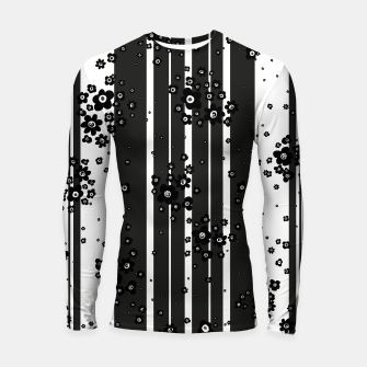 Thumbnail image of  Artistic, Black, Black and white, Cute, Daisy, Ditsy, Hand drawn, Lines, Simple, Spring/summer, Stylised floral, pattern Longsleeve rashguard , Live Heroes