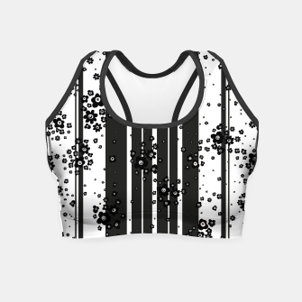 Thumbnail image of  Artistic, Black, Black and white, Cute, Daisy, Ditsy, Hand drawn, Lines, Simple, Spring/summer, Stylised floral, pattern Crop Top, Live Heroes