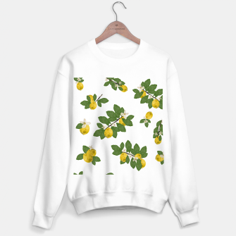 Thumbnail image of Lemon tree and lemon flowers pattern white background Sweater regular, Live Heroes