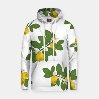 Thumbnail image of Lemon tree and lemon flowers pattern white background Hoodie, Live Heroes