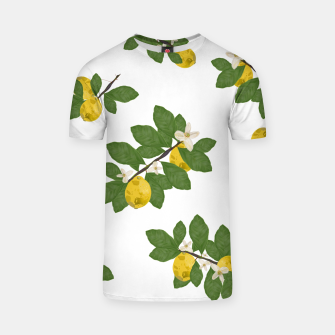 Thumbnail image of Lemon tree and lemon flowers pattern white background T-shirt, Live Heroes