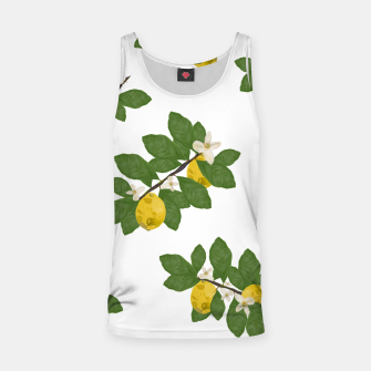 Thumbnail image of Lemon tree and lemon flowers pattern white background Tank Top, Live Heroes