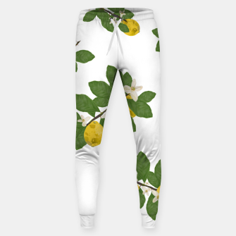 Thumbnail image of Lemon tree and lemon flowers pattern white background Sweatpants, Live Heroes