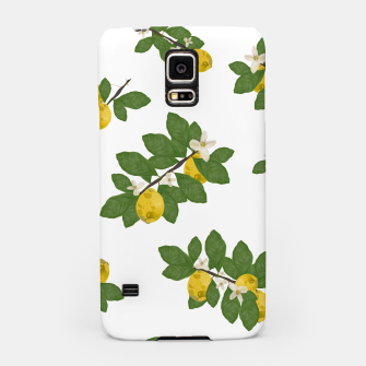 Miniaturka Lemon tree and lemon flowers pattern white background Samsung Case, Live Heroes