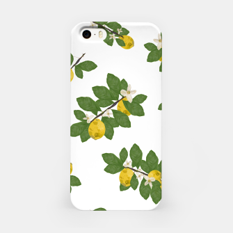 Miniaturka Lemon tree and lemon flowers pattern white background iPhone Case, Live Heroes