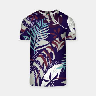 Thumbnail image of Fancy Tropical Floral Pattern T-Shirt, Live Heroes