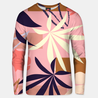 Fancy Tropical Floral Pattern Unisex sweatshirt thumbnail image