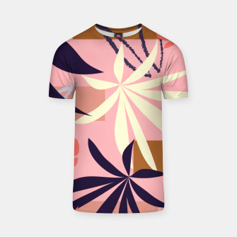 Fancy Tropical Floral Pattern T-Shirt thumbnail image