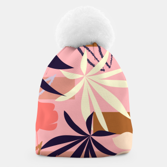 Fancy Tropical Floral Pattern Mütze thumbnail image