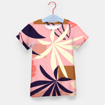 Fancy Tropical Floral Pattern T-Shirt für kinder thumbnail image
