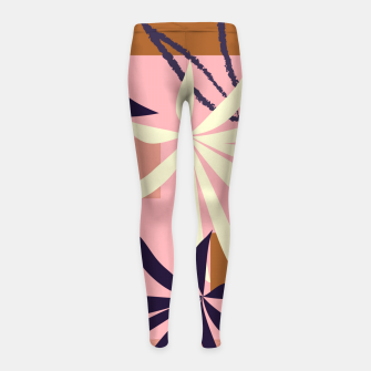 Thumbnail image of Fancy Tropical Floral Pattern Kinder-Leggins, Live Heroes