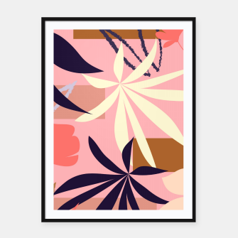 Thumbnail image of Fancy Tropical Floral Pattern Plakat mit rahmen, Live Heroes