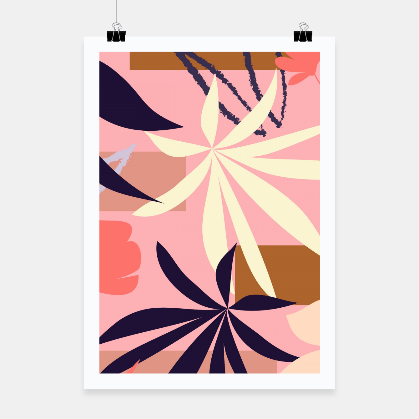 Image of Fancy Tropical Floral Pattern Plakat - Live Heroes