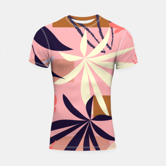Thumbnail image of Fancy Tropical Floral Pattern Shortsleeve rashguard, Live Heroes