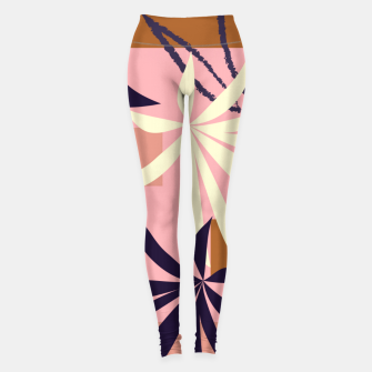 Thumbnail image of Fancy Tropical Floral Pattern Leggings, Live Heroes