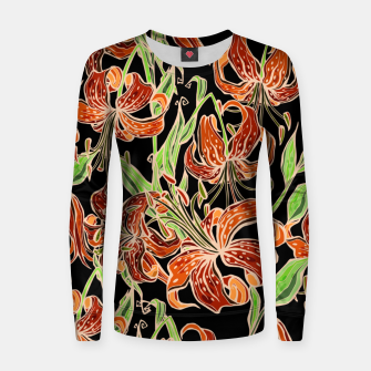 Fancy Tropical Floral Pattern Frauen sweatshirt thumbnail image