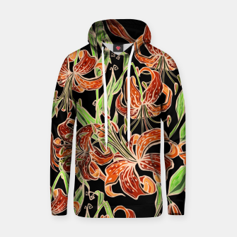 Fancy Tropical Floral Pattern Kapuzenpullover thumbnail image