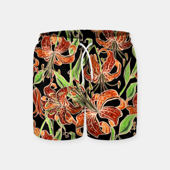 Fancy Tropical Floral Pattern Badeshorts thumbnail image