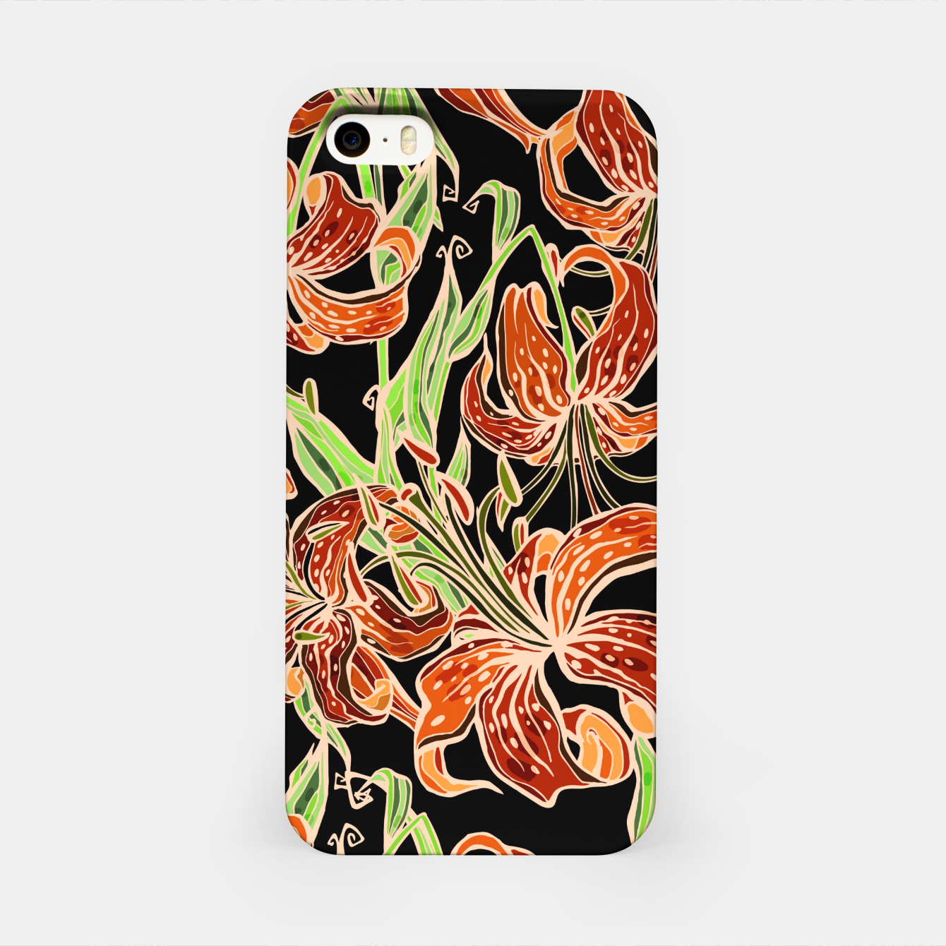Image of Fancy Tropical Floral Pattern iPhone-Hülle - Live Heroes