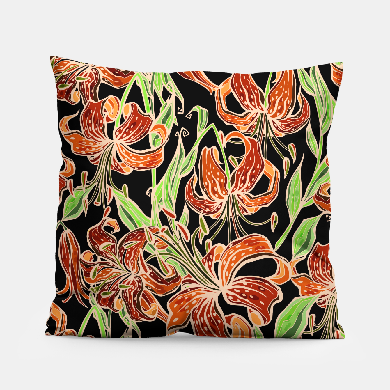 Image of Fancy Tropical Floral Pattern Kissen - Live Heroes
