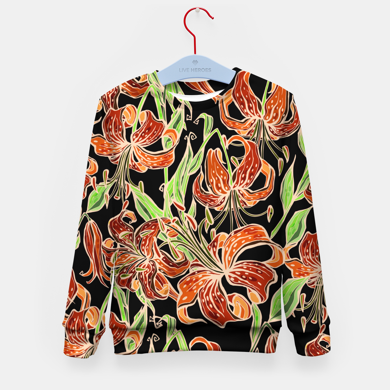 Image of Fancy Tropical Floral Pattern Kindersweatshirt - Live Heroes