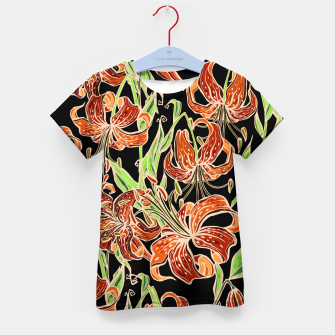 Thumbnail image of Fancy Tropical Floral Pattern T-Shirt für kinder, Live Heroes