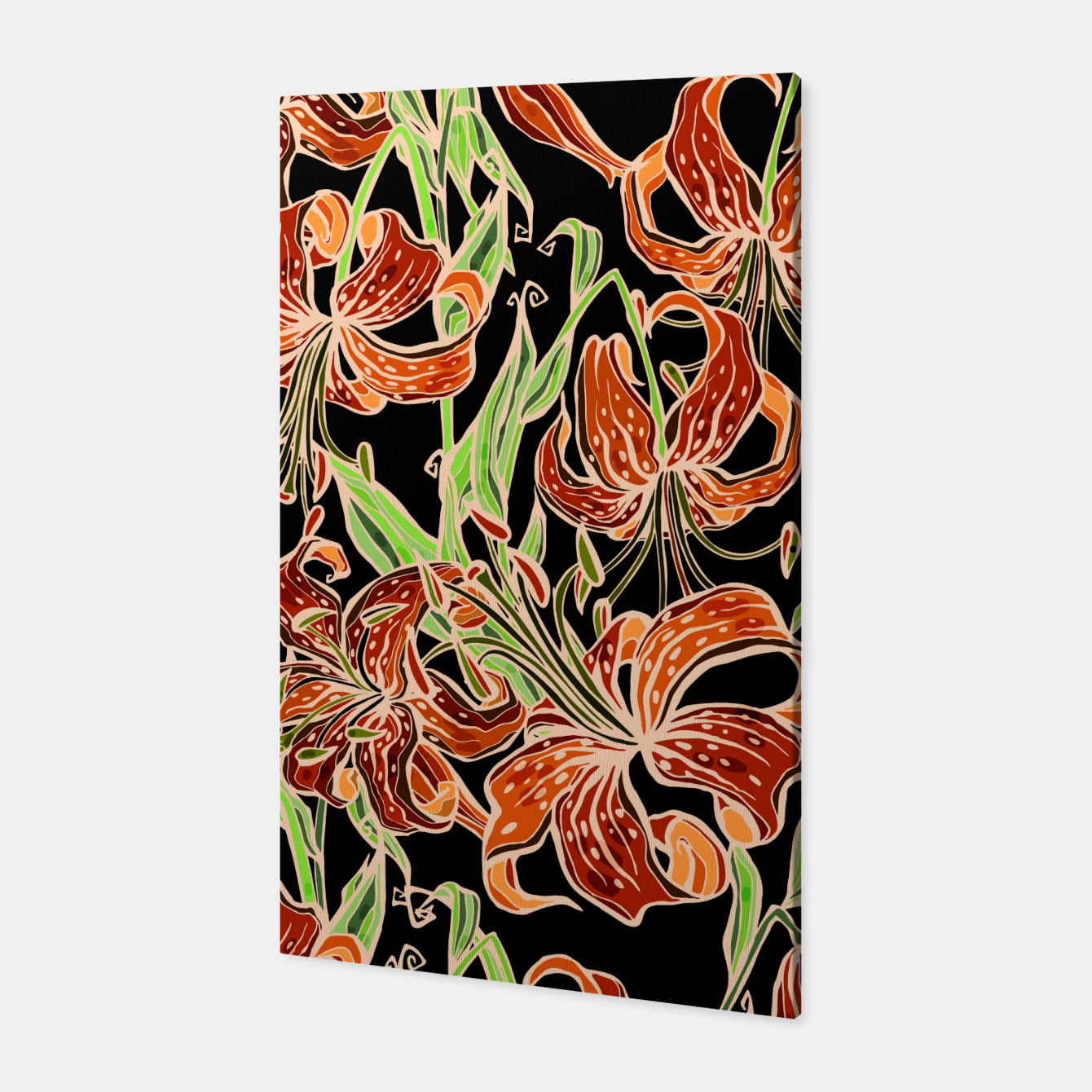 Image of Fancy Tropical Floral Pattern Canvas - Live Heroes