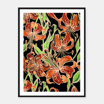Fancy Tropical Floral Pattern Plakat mit rahmen thumbnail image