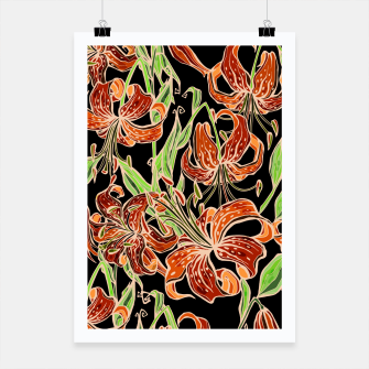 Thumbnail image of Fancy Tropical Floral Pattern Plakat, Live Heroes