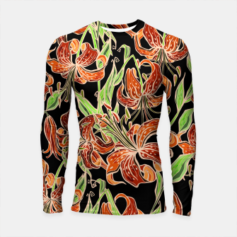 Fancy Tropical Floral Pattern Longsleeve rashguard thumbnail image