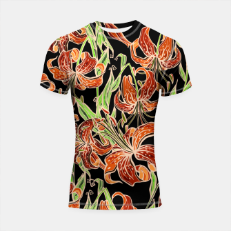 Fancy Tropical Floral Pattern Shortsleeve rashguard thumbnail image