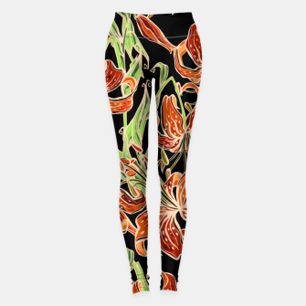 Fancy Tropical Floral Pattern Leggings thumbnail image
