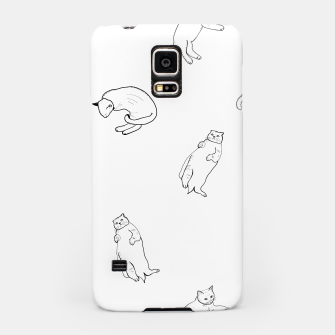 Thumbnail image of Hand drawn seamless pattern with cats monochrome pattern Samsung Case, Live Heroes