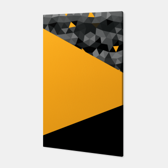 Thumbnail image of Abstrait Triangles Jaune/Noir Toile, Live Heroes