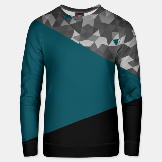 Thumbnail image of Abstrait Triangles Bleu/Noir Unisex pull, Live Heroes