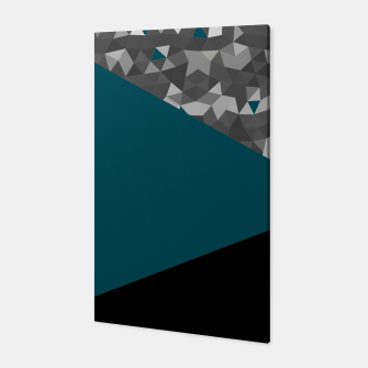 Thumbnail image of Abstrait Triangles Bleu/Noir Toile, Live Heroes