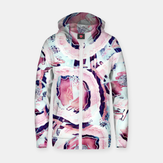 Thumbnail image of Pink and turquoise Zip up hoodie, Live Heroes