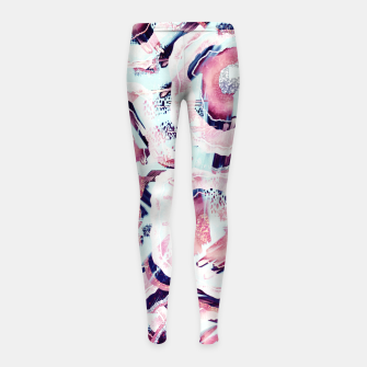 Pink and turquoise Girl's leggings thumbnail image